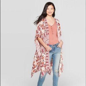 {Knox Rose} printed kimono NWT